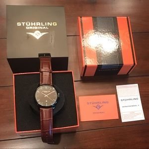 NWT Stuhrling Original Men's Dress Watch